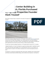 Five Oaks Center Building in Vero Beach, Florida Purchased by Aghapy Properties Founder Mark Youssef