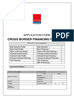 Application Form Cross Border Financing Facility December2015