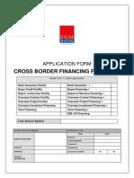 Application Form Cross Border Financing Facility December2015