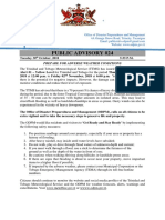 ODPM Public Advisory 24 - Adverse Weather Alert#1 -30th October, 2018(0)