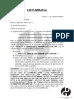 Carta Notarial, Jairo Daniel Garcia Vergara.