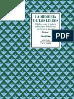 2004 CÁTEDRA_LÓPEZ-VIDRIERO_DE PÁIZ_La memoria de los libros tomo 1.pdf