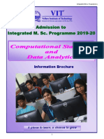 Brochure MSc Compusational 2019-20 (VIT)