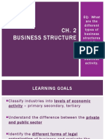 Ch2 Business Structure