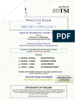 CFA Thailand 20 Nov 11 Practice Exam 20111019