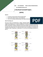 Single Overhead Camshaft Engine