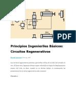Principios Ingenieriles Básicos CIRCUITOS REGENERATIVOS