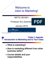 Session 1 - Introduction and Consumer Behavior