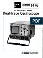 Bk-precision 1476 Dual-trace Oscilloscope Sm