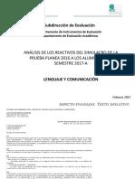 4 Analisis PLANEA Reactivos Lenguaje Comunicacion