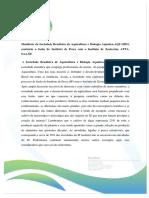 Manifesto da Sociedade Brasileira de Aquicultura e Biologia Aquática