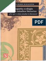 Jean-Marie Schaeffer Pequeña ecologÃ_a de los estudios literarios. Â¿Por qué y cómo estudiar la literatura_1.pdf