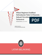 Efficacy of Helicobacter Pylori Eradication Regimens in Rwanda
