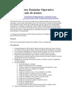 Procedimiento Estándar Operativo- Lavado de Manos