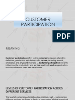 Customer Participation