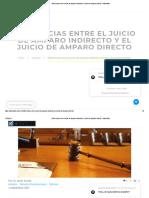 Diferencias Entre El Juicio de Amparo Indirecto y El Juicio de Amparo Directo - Advocatius