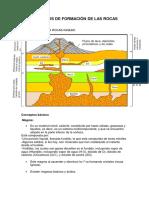 Procesos de Formación de Las Rocas Igneas