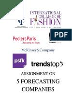 forecasting companies assignment.docx