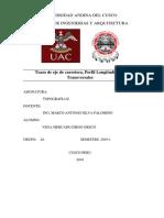 Informe de Eje , Perfil y Transversales de Carretera.