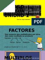 6to Repaso ppt sobre conceptos factores minimo comun multiplo