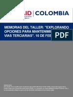 Informe Final_Memorias Taller Vias Terciarias
