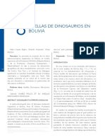 Huellas de Dinosaurios en Bolivia. Suarez Riglos, Cespedes y Medina 2018