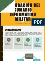 Elaboración Del Sumario Informativo Militar