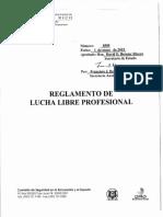 REGLAMENTO 8585 - REGLAMENTO DE LUCHA LIBRE PROFESIONAL.PDF