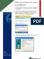 Net Meeting Configuration
