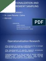 Operatinalization Measurement Sampling