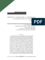 8 Heuristica y Formalismo La Diferencial de Frechet Segun El Enfoque de Lakatos