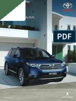 Toyota Kluger XU40 Brochure 201210