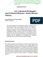 Police Unions,Industrial Strategies and Political Influence-some Recent History
