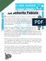 Ficha La Señorita Fabiola Para Cuarto de Primaria