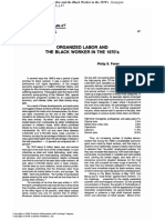 Organized Labor and the Black Worker in the 1970s