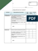Criterios de Evaluación Del Cuento