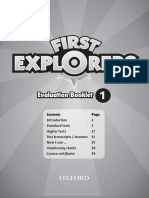 First Explorers Evaluation Booklet