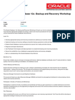 Oracle Database 12c Backup and Recovery Workshop Ed 2