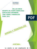Anemia y Hemodiliasis