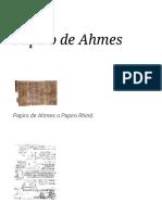 Papiro de Ahmes -  La Enciclopedia Libre