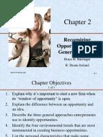 Recognizing Opportunities Generating