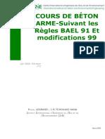 COURS DE BÉTON ARME - Suivant les Règles BAEL 91 Et modifications 99.pdf