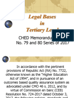 Legal Bases for Tertiary