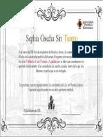 Diploma Reconocimiento_Profesora Inés Posada Agudelo