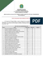 Resultado Avaliacao Curricular Stt 2018.1