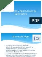 Programas y Aplicaciones de Informática
