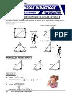 Razones Trigonométricas de Triángulos Notables Para Cuarto de Secundaria