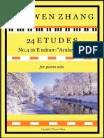 Etude No 4 in E Minor - Full Score 勉强可用