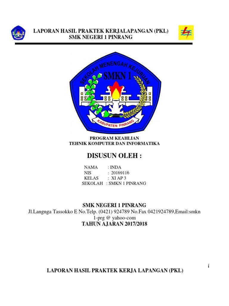 Laporan Praktek Kerja Lapangan Pkl Ahmad Ikram Docx