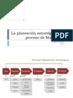 La Planeación Estratégica y El Proceso de Marketing